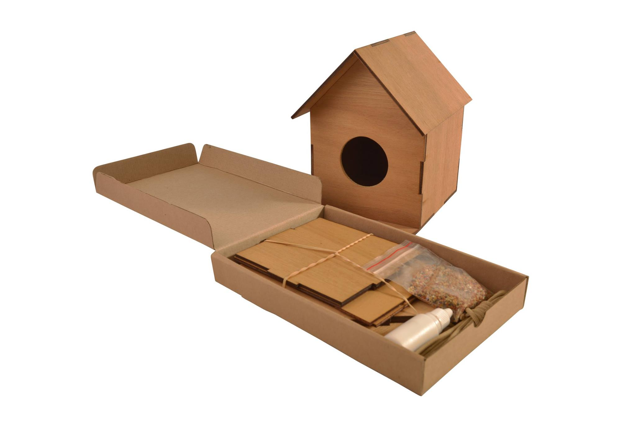 Wooden Flat Pack Birdhouse