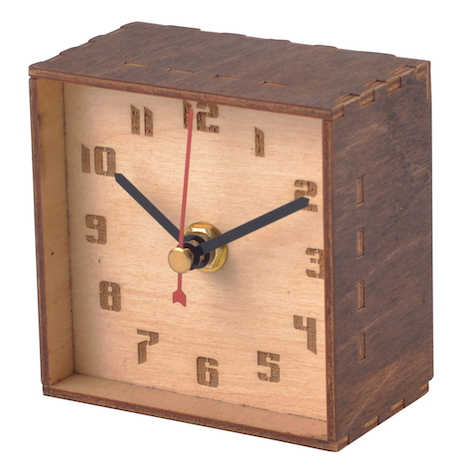 Wooden Desktop Clock - Bendable Back