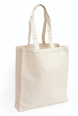 Natural Canvas Tote Bag (Gusseted)
