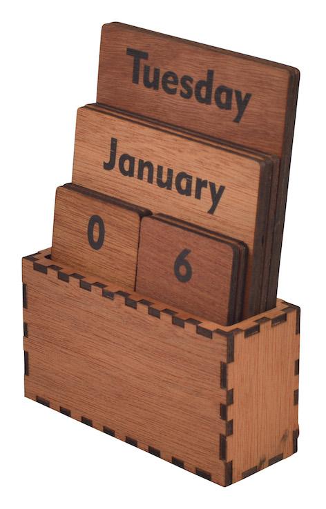 Wooden Shuffle Calendar