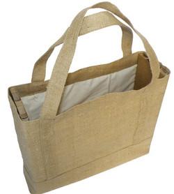 Cotton & Hessian Shoulder Bag