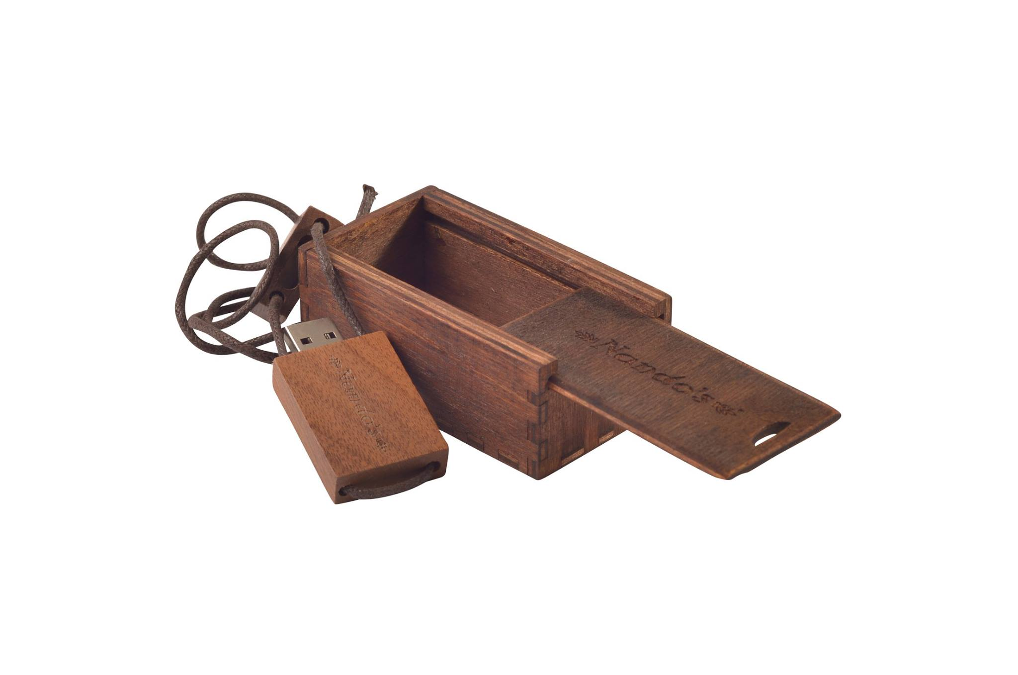 Wooden Rectangle Slide In Lid Box