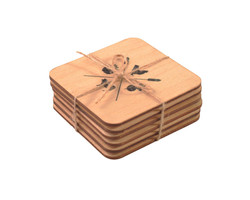 Sustainable Birch Wood Coasters