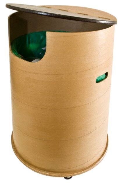 Wood Fibre Recycle Bin (Custom:600)