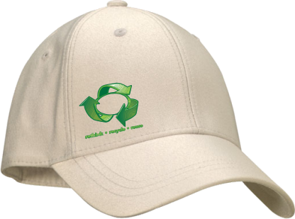 Natural Cotton Peak Cap
