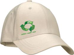 Natural Cotton Peak Cap