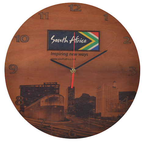 Digital Print Wooden Clock