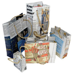 Recycled Newspaper Carrier Bag