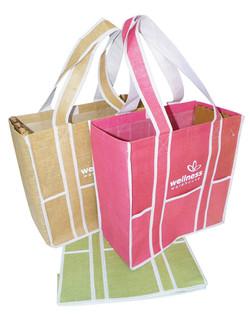 Natural Hessian Bag (Import)