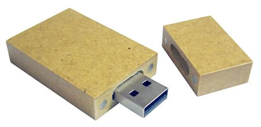 "Recycled Paper ""Square"" USB"