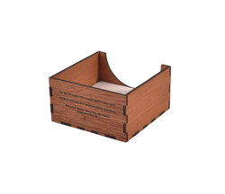 Wooden Desk Cube