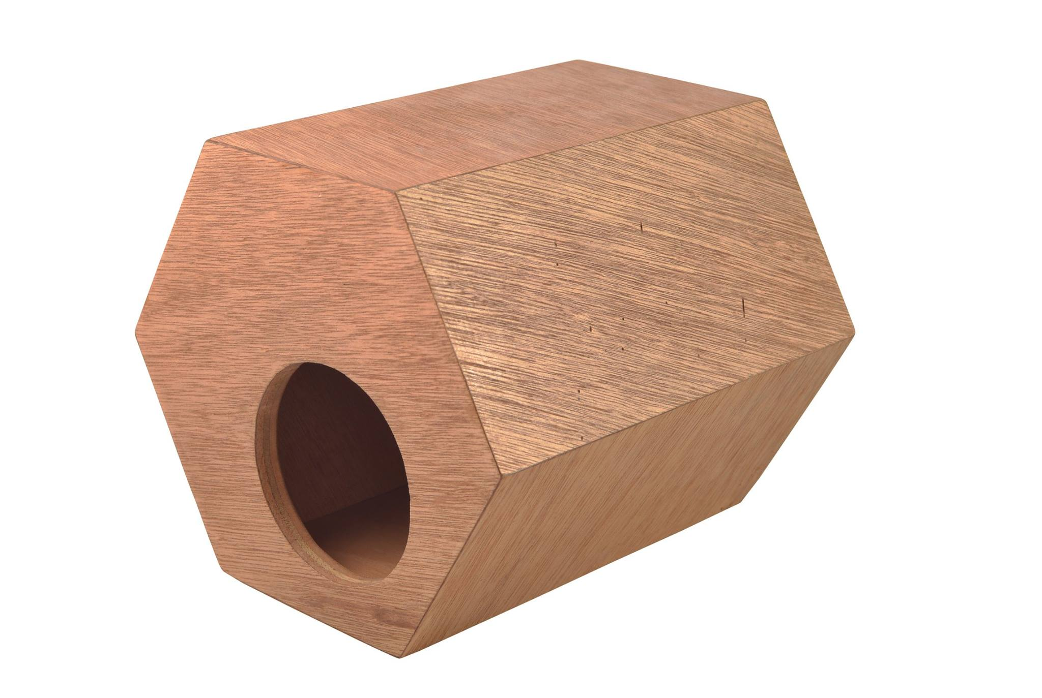 Wooden Hexagon Birdhouse