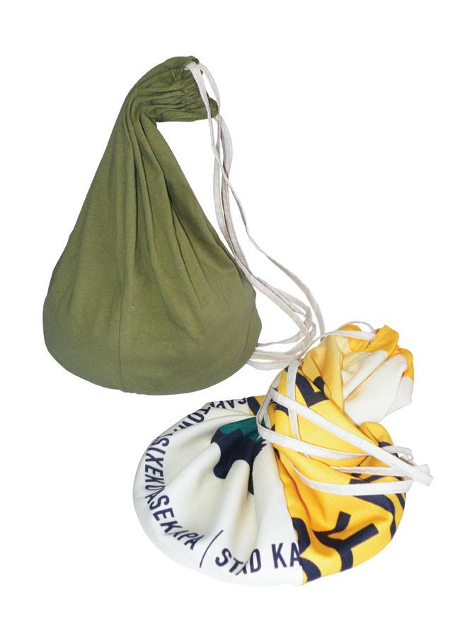 Cotton & Re-Banner Drawstring Bag