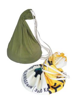 Cotton & Re-Banner Drawstring Bag