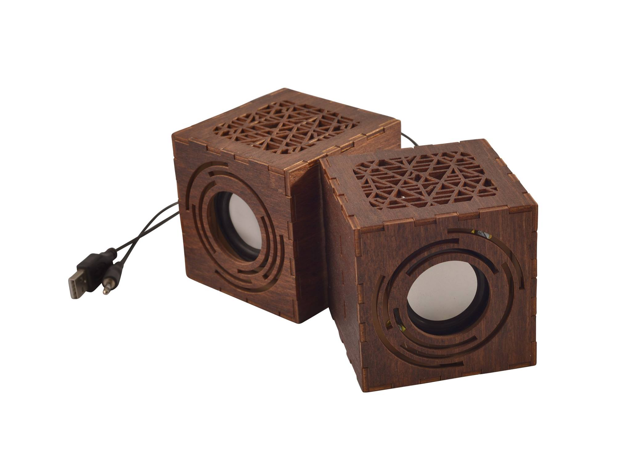 Wooden Desktop Speakers