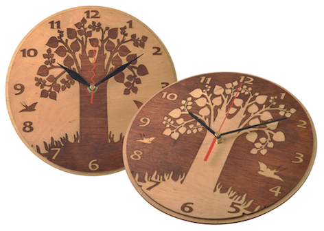 Dual Wooden Clock