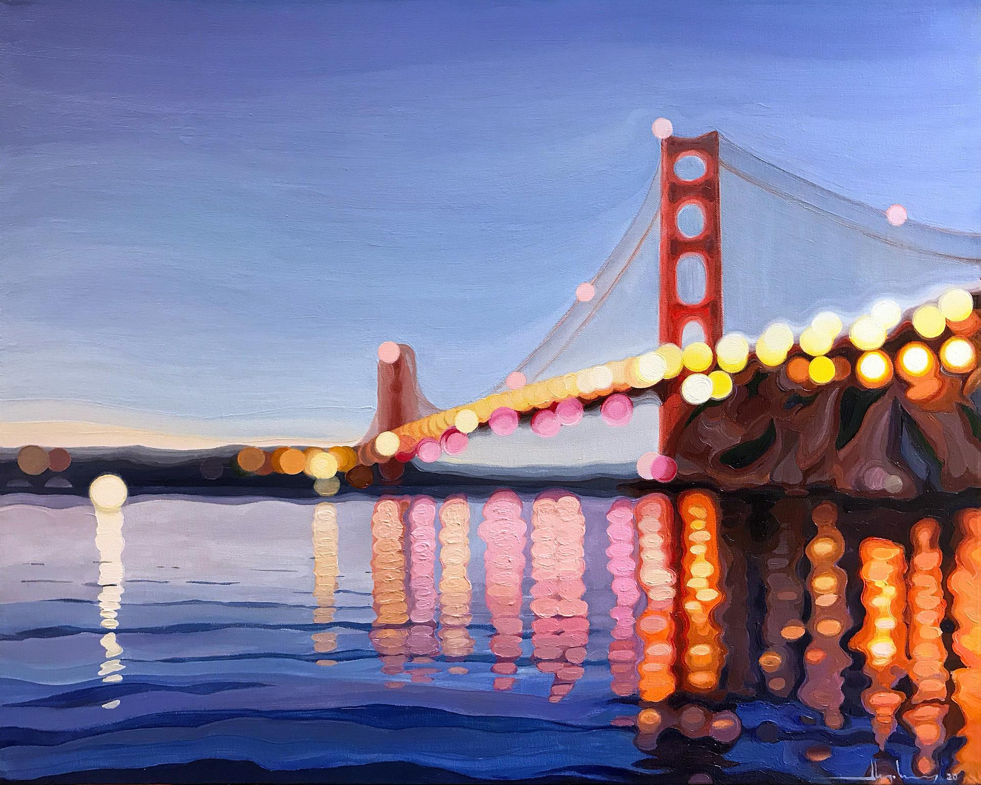 NOCTURNE #24 / Golden Gate Bridge. Sunset.