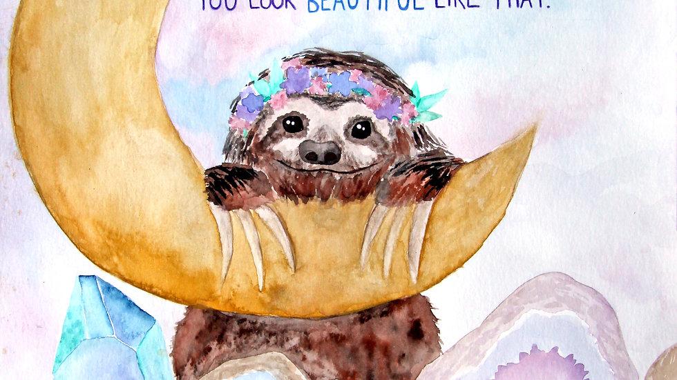 Self Love Sloth Print