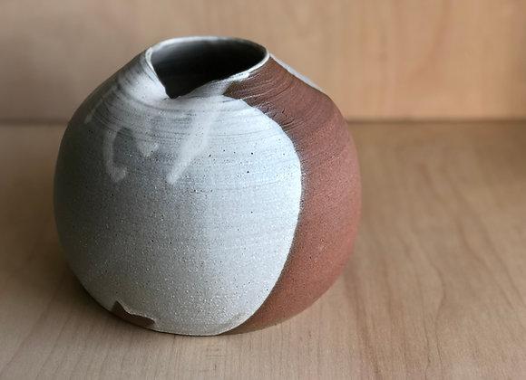 Vase in Sandy Clay in Blush Matte Glaze
