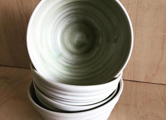 White and Celadon Noodle Bowls
