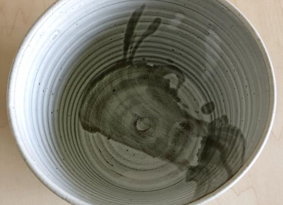 Matte grey and celadon noodle/ramen bowl