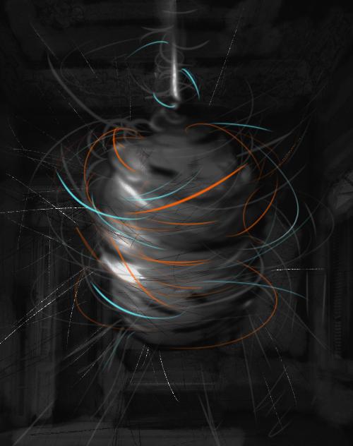 Koza, 2019. Digital Painting/Sanatsal Baskı, 26 cm x 20 cm.