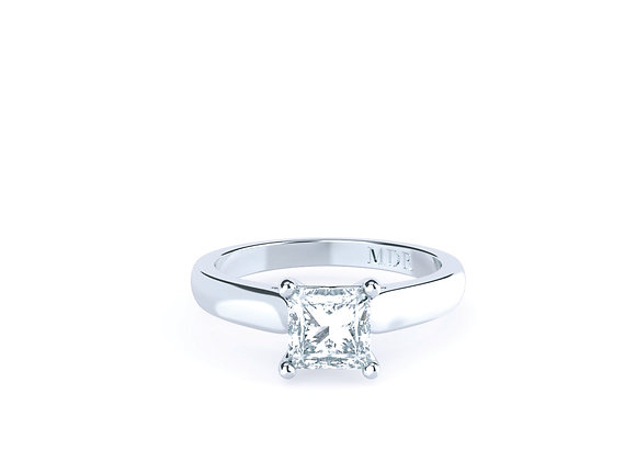 Solitaire Princess Cut Diamond EngagementRing