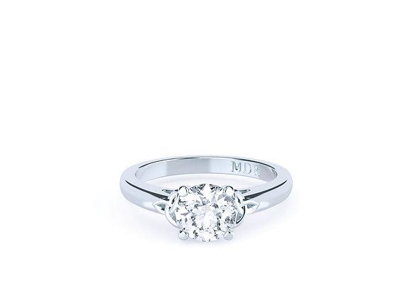 Delicate Round Brilliant CutStylish 18ct White Gold Diamond Ring