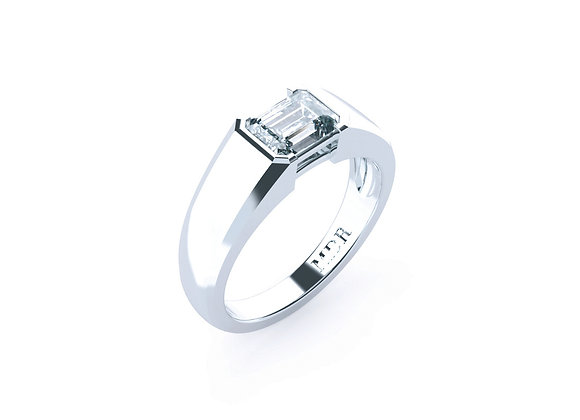 Emerald Cut Diamond Ring with Elegance blended into Perfection!