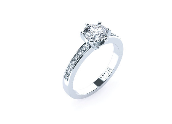Soft Gentle Features filled with High Quality Diamonds and Stylish Band