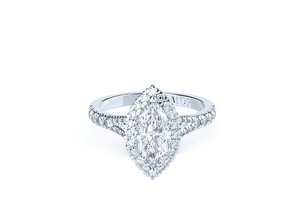 Platinum Marquise Halo Ring is all about the Sparkle