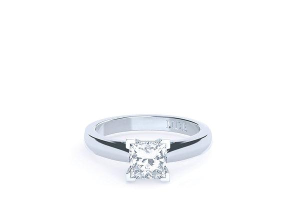 Platinum Ring set with the most Stunning Princess Cut Diamond