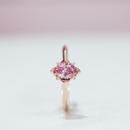 Inspired by the lotus flower; rose gold