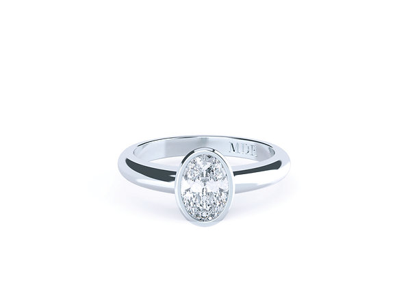 When Quality is only made better by the Stunning Oval Diamond in 18ct White Gold