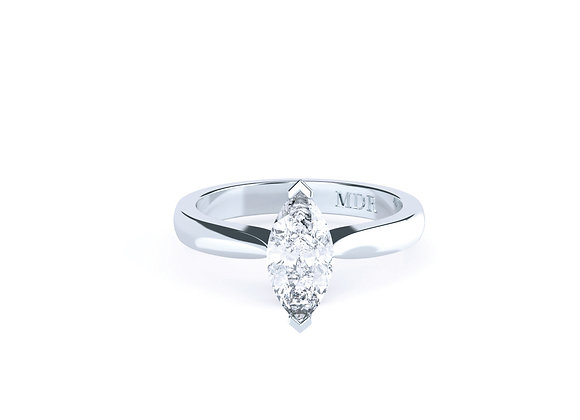 This Marquise Cut Diamond Solitaire will give you a lifetime of Enjoyment!