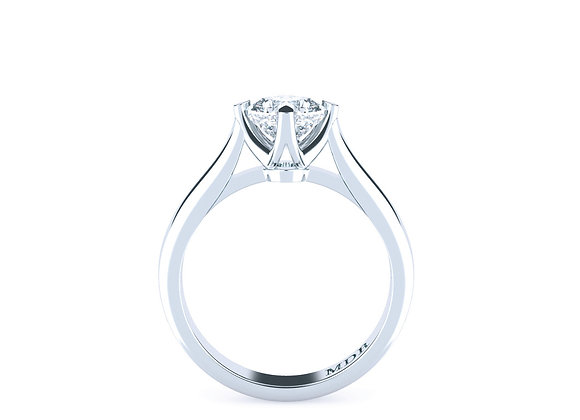 Cushion Cut Solitaire Crafted in Platinum