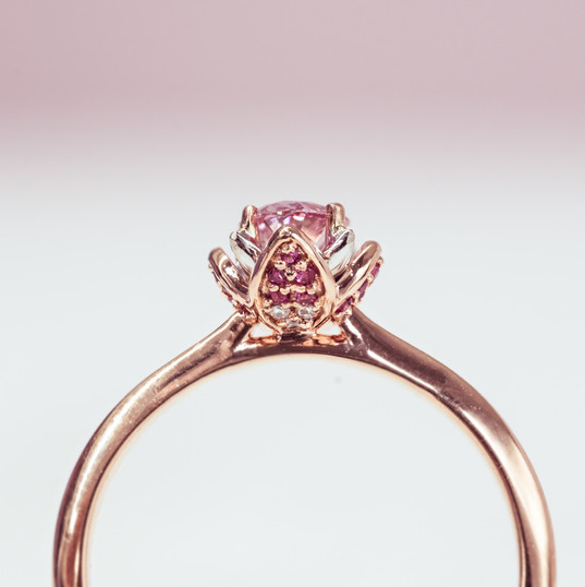 detailed with rose and white gold set wi