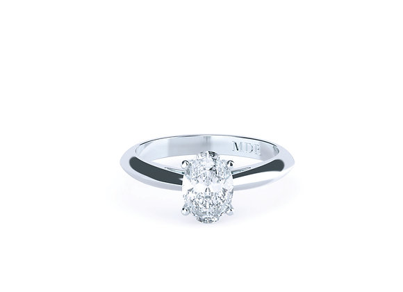 Superb Oval Diamond Ring Finished in 18ct White Gold