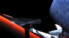 Elon Musk's Tesla Roadster in space