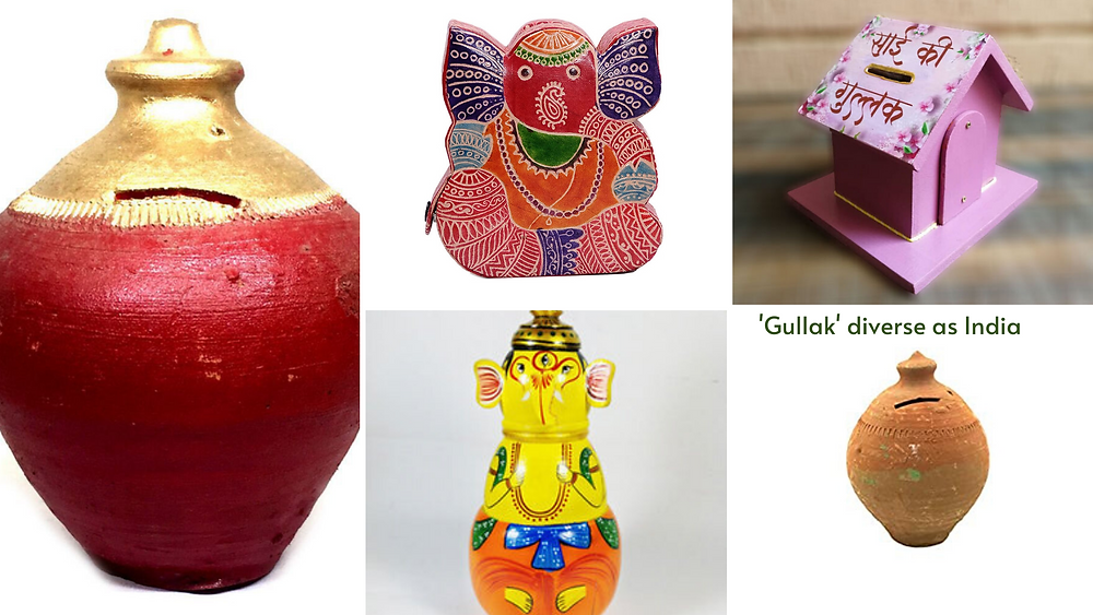 Indian Gullak is always been artistic which reflects emotion and cultures from different geographical glimpse and colors.