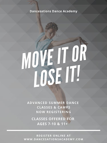 Intensive Training Classes 6-Week Session (ages 12+)
