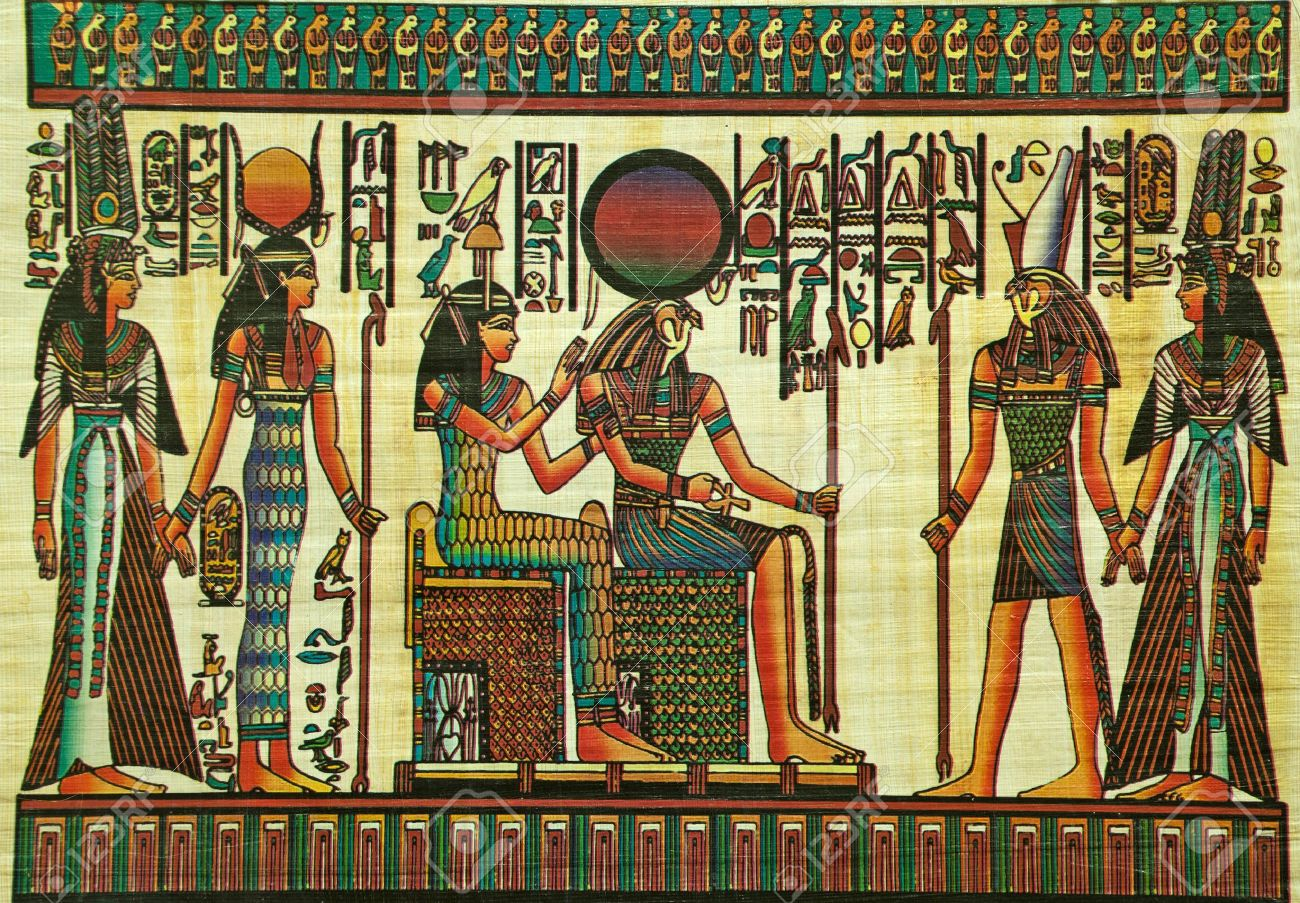 egyptian-papyrus-painting