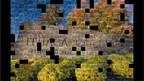 Virtual Photo Mosaic Wall Animation
