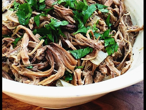 Shredded Beef and Stock In the Crock-Pot - EASY