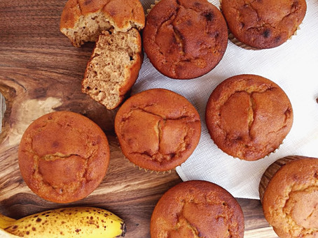 Banana Nut Muffins - with optional chocolate chips!