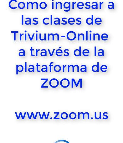 Tutorial para ingresar en las clases online de trivium con zoom - android