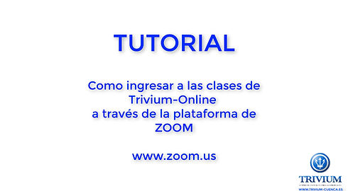 Tutorial para entrar en las clases online de Trivium con ZOOM con un ordenador