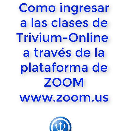 Tutorial para entrar en las clases online de Trivium con ZOOM con un iPhone o iPad