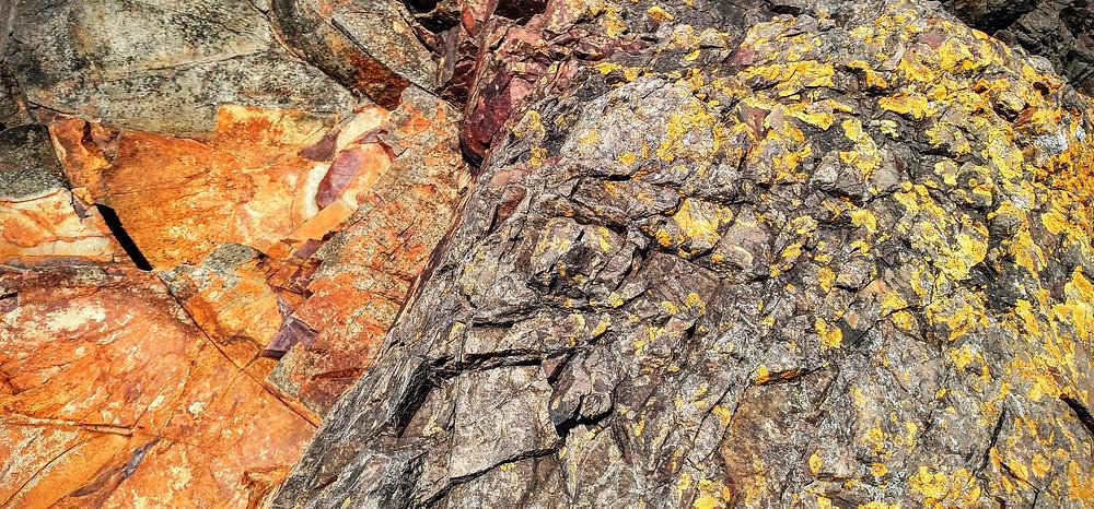 Basalt Covered With Lichen