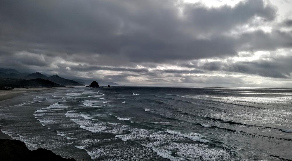 Strange Light on Stormy Seas